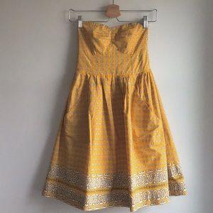 Girls from Savoy Bright Bandana Dress, yellow, 2
